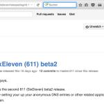 611 release beta2 on GitHub
